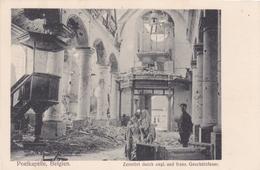 Alte Ansichtskarte Aus Poelkapelle - Kirche, Zerstört Durch Engl. Und Franz. Geschützfeuer- - Langemark-Poelkapelle