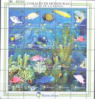 1998. Honduras, Marine Life, Corals Of Isle Bahia, Sheetlet, Mint/** - Honduras