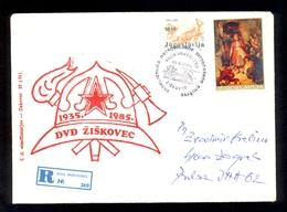 YUGOSLAVIA - Commemorative Envelope For 50th Anniversary Of DVD Ziskovec (volunteer Fire Department) Sent By Registerd M - Firemen