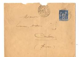 B17 Lettre St Quay Portrieux Carhaix Guingamp   (dept 22 29 56) Ambulant - Postmark Collection (Covers)