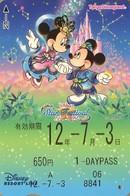 "Japan - Japanese Card DISNEY RESORT LINE.  Carte DISNEY RESORT LINE Du Japon.   ""Mickey & Minnie  -  2012"" - Disney"