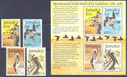 1985. Jamaica, Birds, 4v + S/s, Mint/** - Jamaique (1962-...)