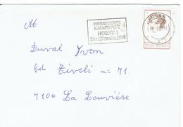 Flamme Bureau De Poste Hornu 1 Portes Ouvertes 26 Et 27 Octobre 1985 Sur Lettre Du 10/9/1985 - Postmark Collection