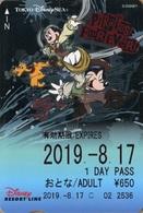 "Japan - Japanese Card DISNEY RESORT LINE.  Carte DISNEY RESORT LINE Du Japon.   ""Mickey & Ses Amis  -  2019"" - Disney"