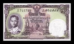 Tailandia Thailand 5 Baht 1955 Pick 75d Sign 41 SC UNC - Thailand