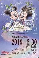 "Japan - Japanese Card DISNEY RESORT LINE.  Carte DISNEY RESORT LINE Du Japon.   ""Mickey & Minnie  -  2019"" - Disney"