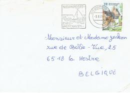 Nieuport Flamme Nieuwpoort Euro Jachthaven Sur Lettre Du 3/8/1985 - Postmark Collection
