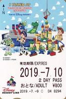 "Japan - Japanese Card DISNEY RESORT LINE.  Carte DISNEY RESORT LINE Du Japon.  ""Toy Story""  -  2019"" - Disney"