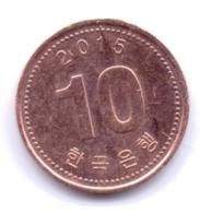 S KOREA 2015: 10 Won, KM 103 - Coreal Del Sur