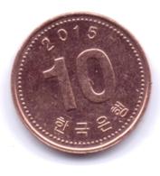 S KOREA 2015: 10 Won, KM 103 - Korea, South