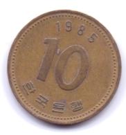 S KOREA 1985: 10 Won, KM 33 - Coreal Del Sur