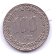 S KOREA 1982: 100 Won, KM 9 - Coreal Del Sur