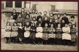 Carte Photo Non Située Groupe écolières  école Fille écolière Filles - Ecoles