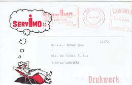 Touriste Chaise Longue Sur Enveloppe à En-tête De Servimo Vente Location Verhuring Verkoop Koksijde (Coxyde) 22/12/1987 - Vacanze & Turismo