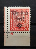 Sudetenland Reichenberg-Maffersdorf Mi-Nr. 13 A Postfrisch Eckrand MNH Rare - Sudeti
