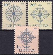 LITAUEN 2002 Mi-Nr. 717/19 CII ** MNH - Lituanie