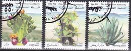 Ei_ Palästina - Mi.Nr. 204 - 206 - Gestempelt Used - Pflanzen Plants Flora - Palästina