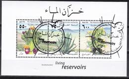 Ei_ Palästina - Mi.Nr. Block 22 - Gestempelt Used - Pflanzen Plants Flora - Palästina