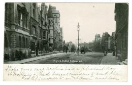 Ref 1360 - 1902 Postcard - Balliol College Oxford - To Miss Daisy Spurgeon Croydon - Oxford