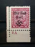 Sudetenland Rümburg Mi-Nr. 5 Postfrisch Eckrand MNH Rare - Sudeti