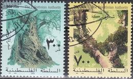 Ei_ Palästina - Mi.Nr. 207 - 208 - Gestempelt Used - Pflanzen Plants Flora - Palästina