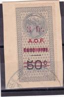 Timbre Fiscal A.O.F Médaillon De Tasset Grand Format 3 Francs/ 50 C - A.O.F. (1934-1959)