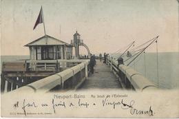 Nieuport-Bains   -    Au Bout Du L'Estacade.   -   1907   Naar   Bruxelles - Nieuwpoort