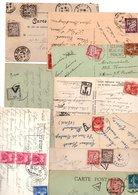 TAXES...TIMBRES.....LOT DE 29 SUR CPA CPSM................VOIR SCAN......LOT 43 - Postage Due