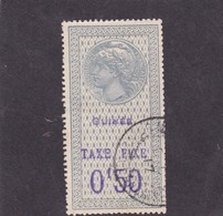 Timbre Fiscal Guinée Française Taxe Fixe Médaillon De Tasset Grand Format 0,50 F - Französisch-Guinea (1892-1944)