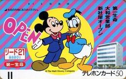 "Japan - Japanese Phonecard Disney. Disney Telephonkarte. Télécarte Disney Du Japon. ""Mickey & Donald"". Neuve. - Disney"