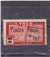 Timbre Postal Togo Pour Usage Fiscal N°F73 République Française Surchargé Etat Français 80c/1 F - Togo (1914-1960)