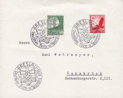Deutsches Reich Sonderstempel BRESLAU Deutsches Turn- U. Sportfest Card 1930 Cover Brief OSNABRÜCK Adler Luftpost - Covers & Documents