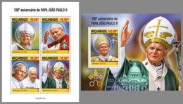 MOZAMBIQUE 2020 MNH Pope John Paul II. Papst Paul II. Pape Jean-Paul II. M/S+S/S - OFFICIAL ISSUE - DHQ2021 - Papas
