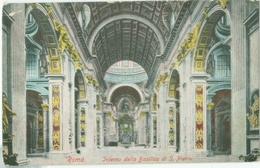 Roma; Interno Della Basilica Di San Pietro - Non Viaggiata.  (Ernesto Richter - Roma) - San Pietro