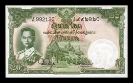 Tailandia Thailand 20 Baht 1955 Pick 77d Sign 44 SC UNC - Thailand