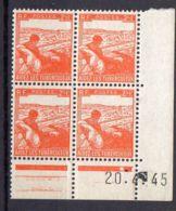 FRANCE (COINS DATES) : Y&T  N° 750  DU  20/04/1945  TIMBRES  NEUFS  SANS TRACE  DE  CHARNIERE ,   A  V0IR . - 1940-1949