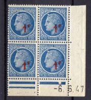 FRANCE (COINS DATES) : Y&T  N° 791  DU  6/06/1947  TIMBRES  NEUFS  SANS TRACE  DE  CHARNIERE ,   A  V0IR . - 1940-1949