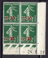 FRANCE (COINS DATES) : Y&T  N° 476  DU  24/08/1938  TIMBRES  NEUFS  SANS TRACE  DE  CHARNIERE ,   A  V0IR . - 1940-1949