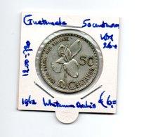 GUATEMALA 50 CENTAVOS 1962 ZILVER - Guatemala