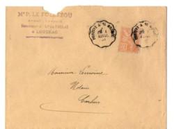B17 01 04 1901 Lettre Pontivy Carhaix St Brieuc Brest Morlaix(dept 22 29 56) Ambulants - Postmark Collection (Covers)