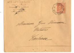 B17 20 06 1901 Lettre Pontivy Carhaix St Brieuc (dept 22 29 56) Ambulant - Postmark Collection (Covers)