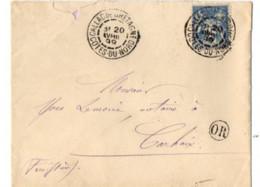 B17 20 04 1899 Lettre Guingamp Carhaix Callac De Bretagne (dept 22 29 56) Cachet OR - Postmark Collection (Covers)