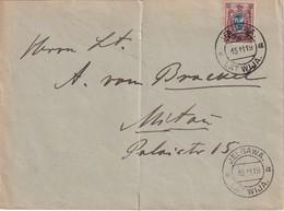 LETTONIE 1919 LETTRE DE JELGAWA AVEC TIMBRE RUSSE - Lettonie