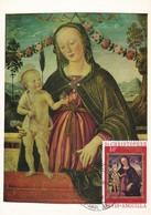Carte Maximum  Peinture Nevis Fiorenzo Di Lorenzo - Briefmarken