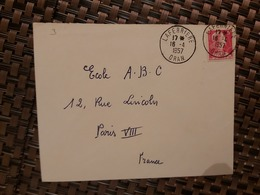 Laferriere Algérie Pour Paris ( Le 16 04 1957 ) Algérie - Lettres & Documents