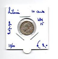 LIBERIA 10 CENTS 1960 ZILVER - Liberia