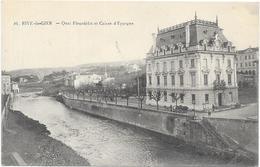 RIVE DE GIER : QUAI FLEURDELIX ET CAISSE D'EPARGNE - France