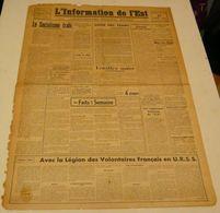 L'information De L'Est Du 27 Août 1943.(LVF-choses Vues) - Revues & Journaux