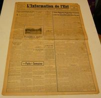 L'information De L'Est Du 10 Septembre 1943.(LVF-photo) - Revues & Journaux