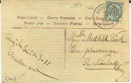 AUDENAERDE VERTREKSTEMPEL 21 III 1911 - Marcofilia